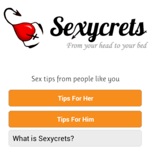 Sexycrets : Freelance Android app