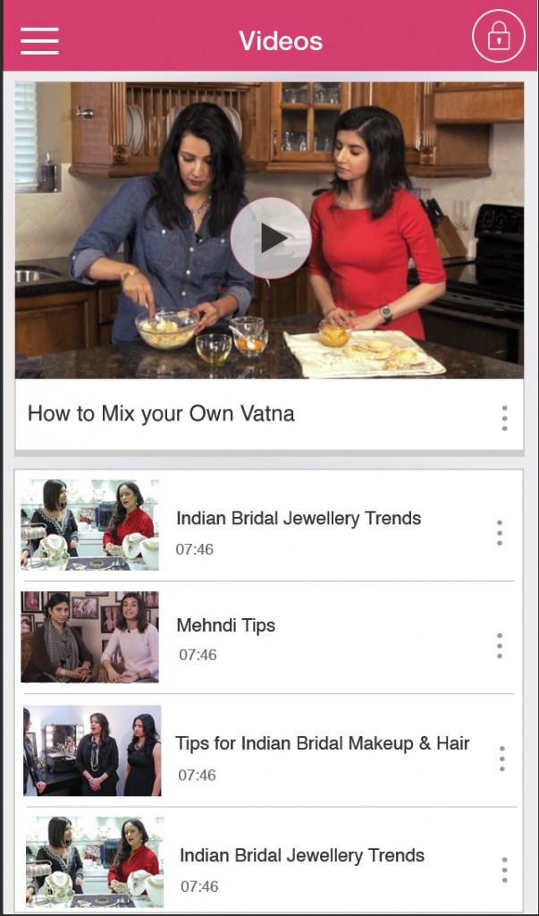 Videos module : Planshaadi android app