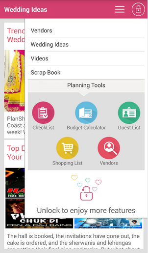 Planshaadi android app wedding ideas