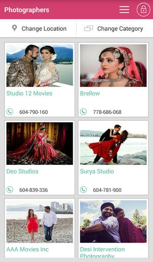Planshaadi Android app Vendors Listing