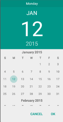Android lollipop date picker issue